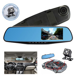 Wholesale Dual Rear View Camera - Rear View 4.3'' Car DVR Mirror Screen Full HD 1080P DVR With Backup Camera Kit