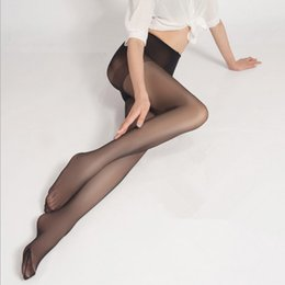 Wholesale Hot Sexy See Lingerie - 4 Colors Hot sexy Tights Women Seamless See Through Stockings Sexy Underwear Lingerie Stealth Pantyhose Silk Stockings