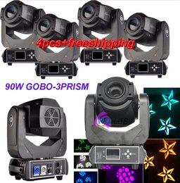 Wholesale Dmx Gobo - 90W Gobo LED Moving Head Light 3 Face Prism DMX Controller 6 15 DMX Channel for Stage Theater Disco Nightclub Party