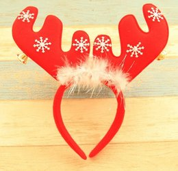 Wholesale Hoops For Clasp - Christmas Headband Santa Xmas Party Decor Double Hair Band Clasp Head Hoop Natal Decorations for Home QY-064