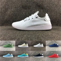 Wholesale Cheap Rainbow Shoes - 2017 Originals Pharrell Williams Tennis Hu x Stan Smith men and women Running Shoes Cheap Rainbow Sports Shoes Breathable Sneakers eur 36-45