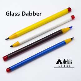 Wholesale Hand Tools Glass - Pencil Glass Dabber 5 Inch Style Pyrex Glass Dabber Hand Tool Colors Dabble For Heady Glass Bong High Quality Dab Rig 611