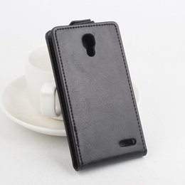 Wholesale Back Cover Flip S3 - Flip Leather Cover Case for Alcatel One Touch Pop S3 OT 5050 5050Y 5050X Vertical Back Cover Open Up and Down