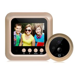 Wholesale Eye Camera Wireless - 2.4 inch LCD Video-eye Visual Monitor Door Peephole Motion sensing Camera 160 Degree View Angle Wireless Video night vision