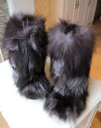Wholesale Hongkong Boots - Wholesale-The new Hongkong IT Europe exclusive high-end luxury Eskimo fur fox Mao Maomao boots