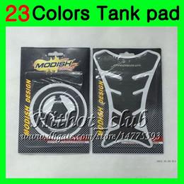 Wholesale Kawasaki Zx7r Tank - 23Colors 3D Carbon Fiber Gas Tank Pad Protector For KAWASAKI NINJA ZX7R 96 97 98 ZX-7R ZX750 ZX 7R 1996 1997 1998 1999 3D Tank Cap Sticker