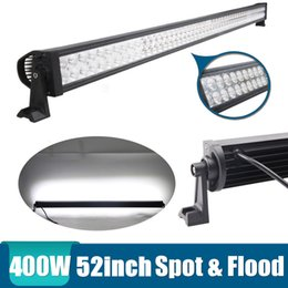 """Wholesale Truck Roof Driving Work Lights - 400W 52"""" Spot Flood Combo Beam LED Light Bar Working Light Roof Front Headlight For Truck Jeep Off-road 4WD Car Boat Driving light 12V 24V"""