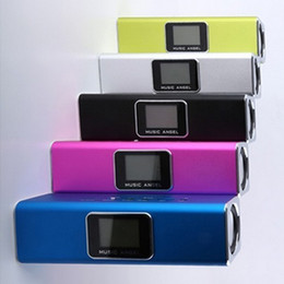 Wholesale Active Portable Speakers - 100% Original New MUSIC ANGEL JH-MAUK5B LCD Screen Active Audio FM USB Wireless Portable Mini Speaker with SD TF