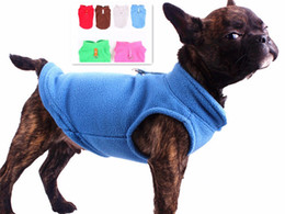 Wholesale Fleece Dog Vest - Free shipping pet dog puppy cat soft comfort outdoor fleece warm winter coat clothing vest six colors