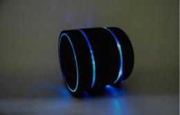 Wholesale Beat Speakers - Newest LED Metal Mini PortableBluetooth Speaker S09 Enhanced Speaker 3 LED Light Ring Super Bass Beat Hi-Fi Handfree