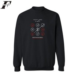 Wholesale Rock N Roll Sweatshirts - Wholesale- LUCKYFRIDAYF Twenty One Pilots Black Gray Harajuku Sweatshirt Cotton in Rock n Roll Mens Hoodies and Sweatshirts Street Style