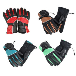 Wholesale Motorcycle Gloves For Winter - Wholesale- 1Pair 12V Electric Gloves Charge Heated Gloves Sport Temperature Control Rechargeable For Motorcycle Hunting Winter Warmer