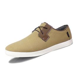 Wholesale Size 12 Men - 29-31.5cm US Size 12 13,Euro 48 49 Casual shoes men Breathable Lace Summer Canvas Comfortable Solid Outdoor Men's Shoes Student