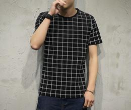 Wholesale Blank Clothes - Men's T Shirt Men's clothing Tops Tees Hip Hop Urban Plaid Blank Shirts Plus Size Big Size
