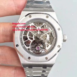 Wholesale Skeleton Transparent Watch - Luxury Top Quality Brand Watch Best JH Factory Maker 44mm Stainless Steel Skeleton Swiss Mechanical Transparent Automatic Mens Watch Watches