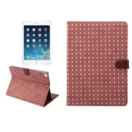 Wholesale Bling Dust Cover - Fashion PU Leather Ultra Slim Book Stand Case Cover With Bling Rivet Flip Shockproof For IPAD air 5 air 2 6 IPAD 9.7 New 2017 OPP BAG