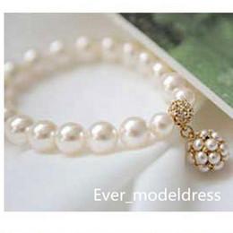 Wholesale Bride Sale - Bridal Accessories Fashion pearl diamond bracelet bride intertwined spiral bracelets Bridal Jewelry bracelets hot sale for wedding 2017