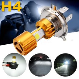 Lampadina H4 LED COB per moto moto Hi / Lo faro DC 12v 24V 6500K 1500LM 18W da