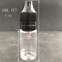 Wholesale Plastic Presses - 10ml E Liquid Bottle PET Transparent Plastic 10 ml Dropper Needle Tip Bottle With PRESS & TURN Caps For E Juice Vape DHL