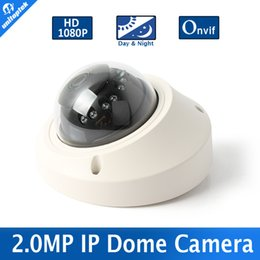 Wholesale Dome Camera Vandal Ip - New Mini Dome 1080P IP Camera Onvif Realtime 25fps With 3.6mm Lens High Resolution Vandal-proof 2MP Network Camera