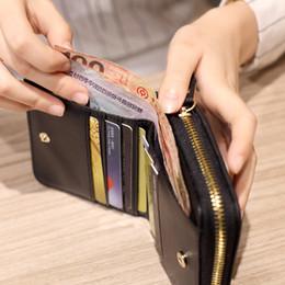 Wholesale Korean Womens Wallet - 2017 Women Short Wallet Handbag Brand Womens Wallets And Purse Female Clutch Purse Femininas Credit Card Holder Coin Purse