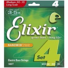 Elixir électrique en Ligne-Elixir 14077 045-105 Cordes de basses électriques à revêtement ultra-mince Nanoweb 14777 045-130