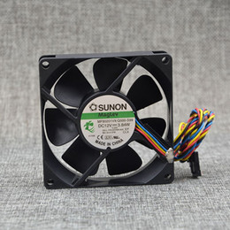 Wholesale sunon dc fan - SUNON MF80201VX-Q000-S99 DC 12V 3.84W 4 line 8025 8CM For DELL server fan
