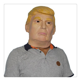 Wholesale Party Supply Usa - Party Latex Mask USA President Donald Trump Halloween Masks Republican Presidential Candidate Costume Play Mask Party Supplies Free Shipping