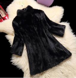 Wholesale Water Mink Fur - Mink coat pieces mink water mink fur coat women models 2017 winter new in the long section