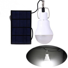Wholesale Solar Charge Garden Lights - 15W 130LM Portable Led Bulb Garden Solar Powered Light Charged Solar Energy Lamp High Quality Free Shipping