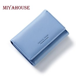 Wholesale Small Leather Pocket Change Holder - Miyahouse Women Short Wallet Soft PU Leather Female Small Purse Elegant Lady Hasp Change Purses Multifunction Card Purse