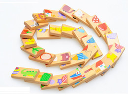 Wholesale Animal Dominoes - Unisex Baby Kid 28PCS Animal Domino Puzzle Blocks Toy Safe Wood Domino Educational Toys Gift for Kid, Above 3 Years Old