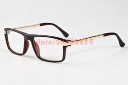 Wholesale Mens Eyeglasses Fashion - Mens Women Designer Brands Optical Metal Gold Silver Frame Buffalo Horn Glasses Fashion Vintage Eyeglasses Clear lenses Original Package
