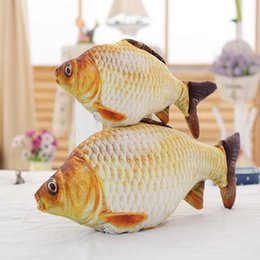 Wholesale Staff Animal - Wholesale- 1pc 55 70cm Simulation Carp Plush Toys Staffed Soft Animal Fish Plush Pillow Creative Sofa Pillow Cushion Gift Kids Toy
