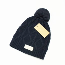 Wholesale Leather Yarn - winter hot sale brand knitting hats Beanie cap u style men's women's winter autumn knitted warm hats beanies 5 colors
