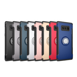 Wholesale Galaxy Ring Cases - For Samsung Note 8 Car Holder Case Armor Hybrid Back Cover with Ring Kickstand for Samsung Galaxy Note 8