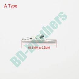 Wholesale Alligator Probe - Metal Round Tail Alligator Clip crocodile electrical Clamp FOR Testing Probe Meter 51MM A Type Hardware accessories 7000pcs lot