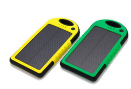 Wholesale Gps External Battery - Waterproof Solar charger 5000mah Solar Power Bank portable Charger Travel External Backup Battery for GPS PDA Phone