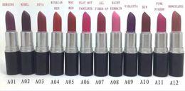Wholesale Make Up Lipstick Long Lasting - Free Shipping!Hot New Color make up HONEYLOVE DIVA REBEL MATTE Lipstick 3g 24 color lip stick .