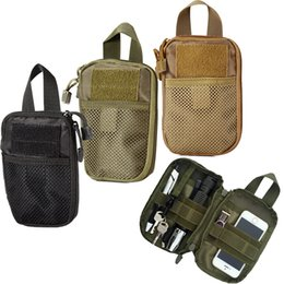 Wholesale Molle Tool Pouch - Military Molle EDC Pouch Mesh Tools Accessory Pouches Tactical Waist Hunting Bags Outdoor Flashlight Magazine Pocket 20pcs Free DHL Fedex