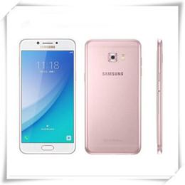 "Wholesale Original Smartphones - Original Samsung Galaxy C5 Pro C5010 4GB RAM 64GB ROM Fingerprint Dual SIM 5.2"" GPS NFC 16.0MP 4G LTE refurbished Smartphones"