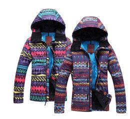 Wholesale Cheap Winter Waterproof Jackets - Wholesale- 2017 Women Ski Coat Cheap Snow Suit Winter Sports Snowboard Jacket Waterproof Windproof Women Snowboard Clothing Outdoor Coat