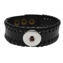 Wholesale Leather Bracelet Music - noosa chunk bracelets snap button infinity bracelets