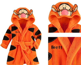 Wholesale Towelling Robe Sale - Hot Sale Children Hooded Bathrobe Towel Baby Boys Girls Flannel Lovely Cartoon Animal Robes Dressing Gown Kids Home Clothing