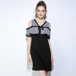 Wholesale Hidden Mini Sexy - The New Large-size Women's Dress Slimming and Hiding Meat Dress Summer