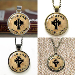 Wholesale Irish Necklaces - 10pcs Boondock saints Veritas Aequitas irish saints Connor Glass Photo Necklace keyring bookmark cufflink earring bracelet