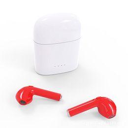 Wholesale Bluetooth Iphone Pairing - I7s Bluetooth headset TWS true wireless charging cabin, binaural mini stereo pair ear earplug type 4.1