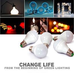 Wholesale 7w Energy Saving Bulb - LED Bulbs E27 Globe Bulbs Lights 3W 5W 7W 9W SMD2835 LED Light Bulbs Warm Pure White Super Bright Light Bulb Energy-saving Light
