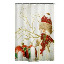 Wholesale Top Grand Shower Curtain Waterproof Christmas Bathroom Tub x180cm Polyester Seasonal Novelty Cool Shower Curtains