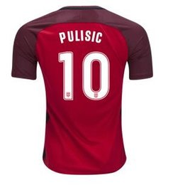 Wholesale Cheap Reds Jerseys - 17-18 Pulisic #10 National Team Red Soccer Jersey,2018 World Cup Jersey,Customized Soccer Top Thai Quality,Cheap Soccer Jerseys Discount